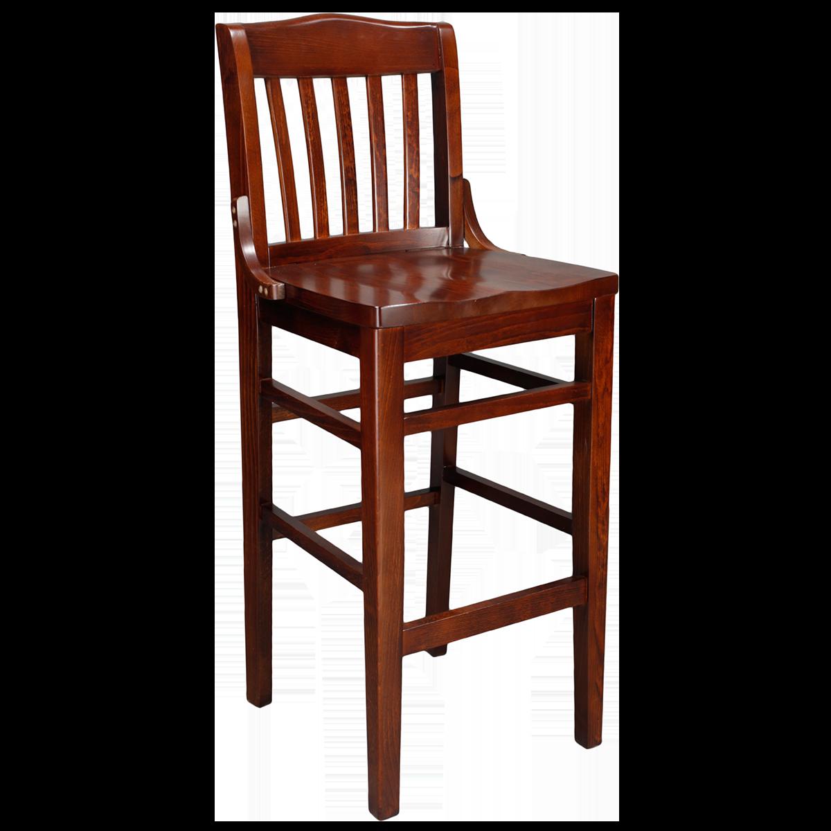 wood schoolhouse barstool solid wood seat millennium seating
