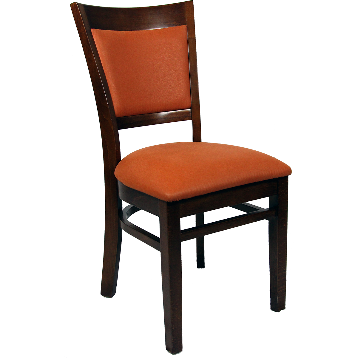 Chairs Wood Upholstered Flared Inset Back Chair