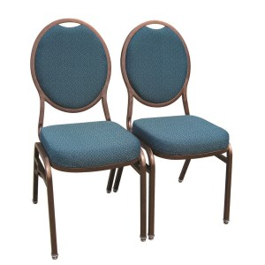 Steel Oval Banquet Chair Ganged