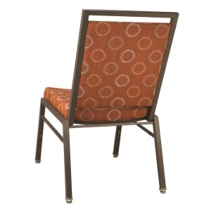Steel Rectangle Contour Seat Banquet Chair
