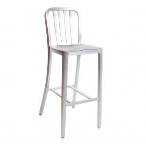 aluminum classic navy seating barstool